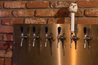 One awesome and owly tap handle