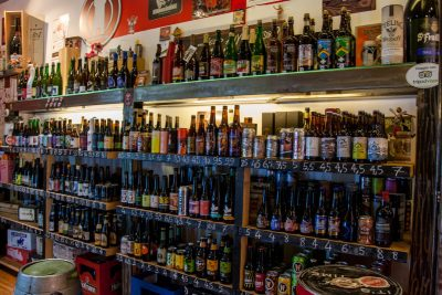 The bottle selection at Johnny's Off License Campo di Fiore