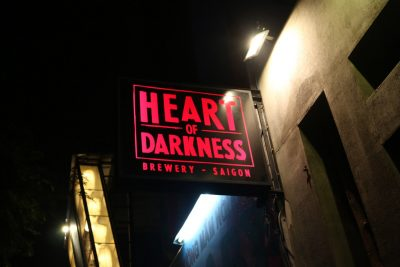 The sign of good beer at Heart of Darkness