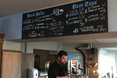Some of the available beer at 1420 in Copenhagen