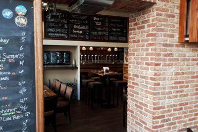 Brick walls in the interior of Stadsbrouwhuis Leiden