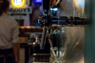 One of the craft beer taps at Brody's American Taphouse
