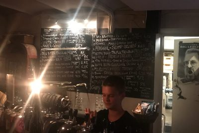 The taplist at Fermentoren