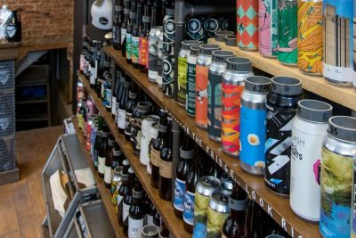 All the tasty beer on the shelves at Free Beer Co.