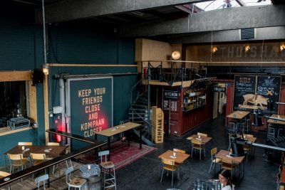The interior of Kompaan Beer Bar from above