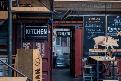 The specials, the kitchen and way to the toilet at Kompaan Beer Bar